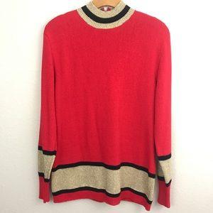 Vintage | knit turtleneck metallic sweater